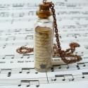 Üzenet a palackban, Vintage stílusú medál. Romantikusoknak és mind...