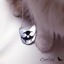 Macska koponyás nyaklánc, Ezt az alumíniumból készült macska koponyás n...