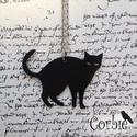 Fekete cica nyaklánc, Ékszer, Medál, Nyaklánc, Ezt az alumíniumból készült fkete cica nyaklánc nagyon könnyű és egyedi, bolondos viselet. Ajánlom m..., Meska