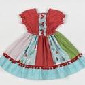 Fenyőfás Fédra kislány ruha, Ruha, divat, cipő, Gyerekruha, Kisgyerek (1-4 év), Varrás, Fenyőfás Fédra kislány ruha, 3 éves méret  100% pamutvászon, designer anyag  , Meska