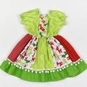 Szarvasos Fédra kislány ruha, Ruha, divat, cipő, Gyerekruha, Kisgyerek (1-4 év), Varrás, Szarvasos Fédra kislány ruha, 2 éves méret  100% pamutvászon, designer anyag  , Meska