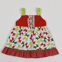 Szarvasos Abigél kislány ruha, Ruha, divat, cipő, Gyerekruha, Kisgyerek (1-4 év), Varrás, Szarvasos Abigél kislány ruha, 2 éves méret  100% pamutvászon, designer anyag  , Meska