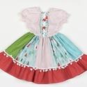 Fenyőfás Fédra kislány ruha, Ruha, divat, cipő, Gyerekruha, Kisgyerek (1-4 év), Varrás, Fenyőfás Fédra kislány ruha, 5 éves méret  100% pamutvászon, designer anyag  , Meska