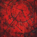 Vermilion , Dekoráció, Képzőművészet, Festmény, Akril, Absztrakt hangulatkép.  50 x 40 cm vakrámára feszített vászonra készült akril festmény. Víz..., Meska