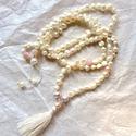 PEARL női nyaklánc folyami gyöngyböl, Ékszer, Esküvő, Ruha, divat, cipő, Nyaklánc, Egyedi stilusú , tenyésztett barokk gyöngyből készült ekrű szinű csomózott női nyaklánc, ..., Meska