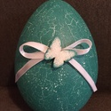 Húsvéti óriás tojás, Dekoráció, Húsvéti apróságok, Ünnepi dekoráció, Dísz, Festett tárgyak, Decoupage, szalvétatechnika, A tojások mérete 16 cm. Szétszedhető. Alapja polisztirol. Decoupage technikával kézzel festve ill. ..., Meska