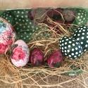 egyedi tojások, Dekoráció, Konyhafelszerelés, Mindenmás, Decoupage, szalvétatechnika, Mindenmás, A képen látható tojások szettben és külön is megvásárolhatók. 1db 10 cm-es rózsás 1090.-, 3 db 7 cm..., Meska