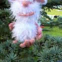 Buba, a házimanó, Baba-mama-gyerek, Játék, Dekoráció, Gyereknap, Méret: 20 cm.  Fej, test, kezek és lábak  - Alize decofur és Alize diva kötött, horog 1,5; 2. ..., Meska