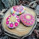 Festett mandala - mandalakő kollekció- Ajándék nőknek, férfiaknak - Painted mandala stone, Kézzel festett színes mandalakő kollekció. Egy...