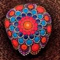Festett mandala - Mandalakő - Ajándék nőknek, férfiaknak - Painted mandala  - Festett mandala kő, Pontozó technikával, kézzel festett, kézzel fo...