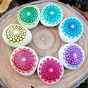 Csakrakő kollekció - Festett kő - Mandala kő - ajándék - spiritualitás - jóga - csakra, A teljes csakrakő kollekció, a 7 csakra minden s...
