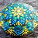 Mandalakő - Festett mandala - Ajándék nőknek, férfiaknak - Painted mandala  - Festett mandala kő, Pontozó technikával, kézzel festett, egyedi kő...