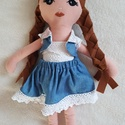 Anna öltöztethető baba, Gyereknap, Játék, Baba, babaház, Varrás, Hímzés, Olyan egyedi babákat készítek, amik saját névvel és egyéniséggel rendelkeznek. Ő Anna baba, aki 43 ..., Meska