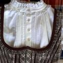 Vajdaszentiványi viselet, Ruha, divat, cipő, Női ruha, Ruha, Varrás, Vajdaszentiványi viselet. Archív minta alapján készült microkord bársony anyag fehér damaszt köténn..., Meska