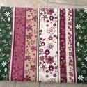 Neszeszer, Táska, Neszesszer, Varrás, Virágos, csíkos bélelt cipzáros neszi pamutvászonból. 20 x 15 cm, Meska