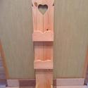 Falipolc, Bútor, Dekoráció, Otthon, lakberendezés, Polc, Famegmunkálás, Falra szerelhető, fából (fenyő) készült, keskeny polc.  Méretei: 70x12,8 cm. Más méretben is rendel..., Meska