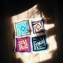 Évszakok, Otthon, lakberendezés, Képzőművészet, Lakástextil, Textil, 40x40cm, fonalból horgolt színes falikép, asszimetrikus négyzet alakzat. Kérésre kartonra felr..., Meska
