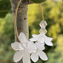 Virágos karika fülbevaló, Pillekönyű, gyönyörű virágos fülbevaló. A ...