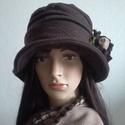 """AKCIÓ!,,ALICE""""  .,polár kalap sállal, Dekoratív, meleg, egyedi . Sötétbarna polár an..."""