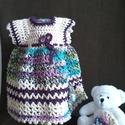 Akció! Horgolt ruhácska hajpánttal,0- 2hónapos kislányoknak, Tündéri kisruha!  Horgolással készítettem. Al...