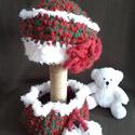 """Akció!,,Karácsonyi mese kislányoknak"""" horgolt sapka  nyakmelegítővel  , Gyerek & játék, Táska, Divat & Szépség, Sál, sapka, kesztyű, Ruha, divat, A karácsony a téli hangulat, hóesés, az a bájos kicsi gyermek, ahogy ránk mosolyog!Szóval ezek a gon..., Meska"""