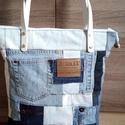 ,, KAROLIN''   farmertáska inpregnáltbőr fülekkel,  Strapabíró, egyedi, nagy táskát készítettem...