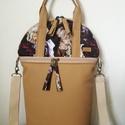 """,,Mogyoró, rózsával""""  női átalakítható táska., Az új forma, a minőségi   kapucsínó színü t..."""
