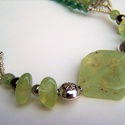 Tavaszi zöldek - prehnit, jáde, mohaachát és aventurin nyaklánc