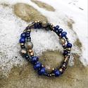 """""""Nomad Queen"""" kétsoros lápisz lazuli karkötő, Ékszer, Karkötő, Ezeket a kétsoros karkötőket (2 db van) a Távol-Keletről, Thaiföldről jött különleges medálokból és ..., Meska"""