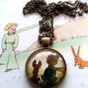 Megszelidítelek, Ékszer, Medál, 25 mm-es lencseátmérőjű antikolt bronz medál. A lánc delfinkapoccsal záródik, hossza egyedil..., Meska