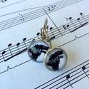 Trónok harca motívumos fülbevaló, Ékszer, Fülbevaló, A képen látható fülbevaló lencseátmérője 12mm, az alap antikolt ezüst színű darab. , Meska