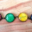 Harry Potter házak 2., Ékszer, Medál, 4 darab 20 mm-es lencseátmérőjű medálból és láncból álló egyedi darab. A lánc delfinkapoccsal záródi..., Meska