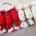 Piros- arany szaloncukrok, Otthon & lakás, Karácsony, Dekoráció, Ünnepi dekoráció, Karácsonyfadísz, Karácsonyi dekoráció, Ha szereted a meleg hangulatú, mézeskalàcs illatú Karàcsonyt, a nagyszüleim karàcsonyfa dìszeit, az ..., Meska