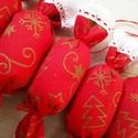 Piros szaloncukrok, Otthon & lakás, Karácsony, Dekoráció, Ünnepi dekoráció, Karácsonyfadísz, Karácsonyi dekoráció, Ha szereted a meleg hangulatú, mézeskalàcs illatú Karàcsonyt, a nagyszüleim karàcsonyfa dìszeit, az ..., Meska