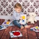 Molyolókönyv totyogóknak, Baba-mama-gyerek, Játék, Készségfejlesztő játék, Varrás,  Textilkönyv 1-3 éveseknek:   1. Finommotorikát fejleszt.  2. Szem-kéz kordinációját  stimulálja.  ..., Meska