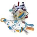 Hajós babakocka, Baba-mama-gyerek, Játék, Baba játék, Készségfejlesztő játék, A nyár hangulatát idézi ez a hajós, bálnás, tengeri csillagos babakocka. Ezek a játékok a fi..., Meska
