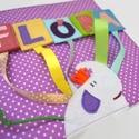 Molyolókönyv totyogóknak- Névkirakó, Gyerek & játék, Játék, Készségfejlesztő játék, Textilkönyv 1-3 éveseknek:  A kicsik leghamarabb a saját nevüket tanulják meg leírni. Nyomtatott nag..., Meska