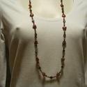 Antik stílusú nyaklánc, Ékszer, Nyaklánc, Antik stílusú nyaklánc,sokféle kővel.Hossza 45 cm. Damilra fűzve., Meska