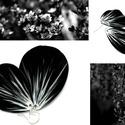 Ellentétek harca - fülbevaló (fekete-fehér), Ékszer, Fülbevaló, Letisztult, egyedi, teljes mértékben kézzel készült fülbevaló, melyet a természet inspirált.   Méret..., Meska
