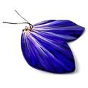 Lila virágszirom - fülbevaló, Ékszer, Fülbevaló, Letisztult, egyedi, teljes mértékben kézzel készült fülbevaló, melyet a természet inspirált.   Méret..., Meska