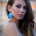 Kék hajnalfény  - fülbevaló