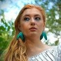 Elmerülve - türkiz fülbevaló - RIVERSIDE kollekció, Ékszer, Fülbevaló, A Riverside kollekciót Kemény Gabriella költővel közösen alkottuk meg, aki a kollekció minden egyes ..., Meska
