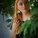 Mohasziget - zöld-arany fülbevaló - RIVERSIDE kollekció, Ékszer, Fülbevaló, A Riverside kollekciót Kemény Gabriella költővel közösen alkottuk meg, aki a kollekció minden egyes ..., Meska