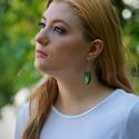 Tücsök - zöld fülbevaló - RIVERSIDE kollekció