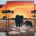 AFRIKA akril festmény, Dekoráció, Képzőművészet, Kép, Festmény, Festészet, Saját ötlet alapján Afrika c. festmény rendelhető. Egyedi méretben és színvilágban a szoba, helyisé..., Meska