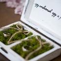 Vintage esküvői gyűrű tartó doboz fából, Esküvő, Gyűrűpárna, Ha nem szeretnéd a szokásos gyűrűtartó párnát stb választani a nagy napodon és valami egyedit kerese..., Meska