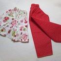Babaruha -öltöztetős babáimhoz-nadrág és tunika, Baba-mama-gyerek, Játék, Baba, babaház, Saját öltöztetős  babáimhoz készült ruhák. (A baba kb. 40 centis.) Nadrág, hozzáillő tunikával...., Meska