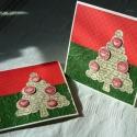 Karácsonyi üdvözlőlap - hagyományos színekben, A képeslapok a karácsony hagyományos színeiben...