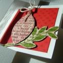 Karácsonyi üdvözlőlap - hagyományos színekben, Korántsem hagyományos kivitellel, igazán hagyom...