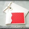 Ajándékátadó kis boríték - pöttyös, A mini lap mérete kb. 6x11 cm, a zsebe ajándékk...